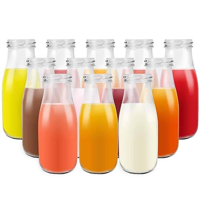 11 oz 330ml Clear Glass Milk Bottles