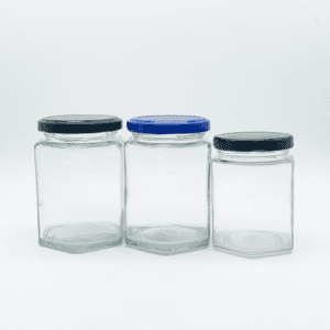 180ml/270ml  Glass Jars With Lids, Mason Jars Spice  Hexagon Jars
