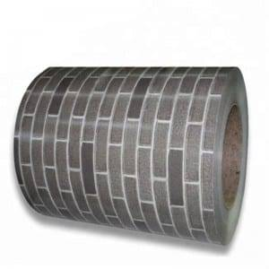 100% Original Factory Large Sheet Of Galvanized Steel - Imitation brick PPGI coil – Jialie