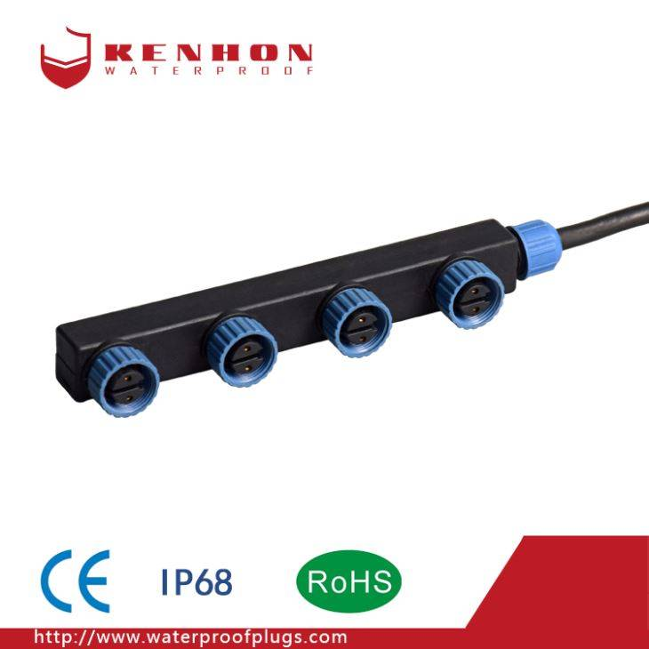 F Type IP68 Waterproof Cables Connectors