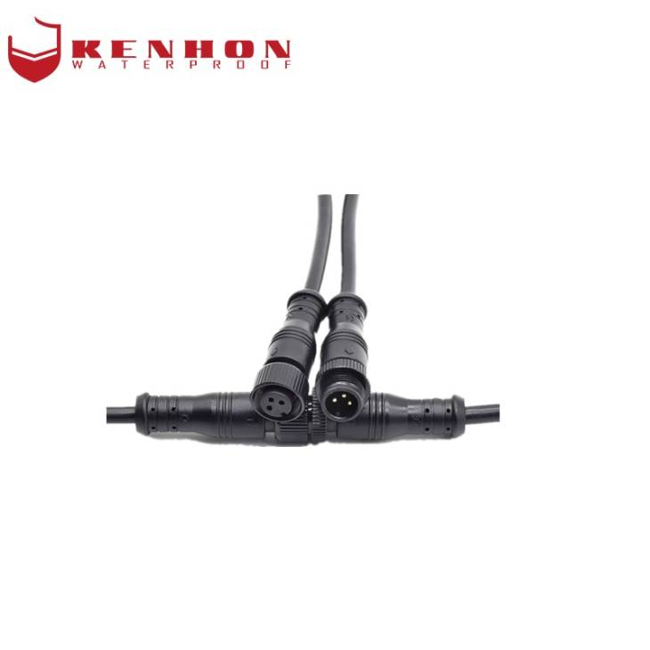Newly Arrival Waterproof Connector Cable - M12 Waterproof Plug Black Metal – Kenhon