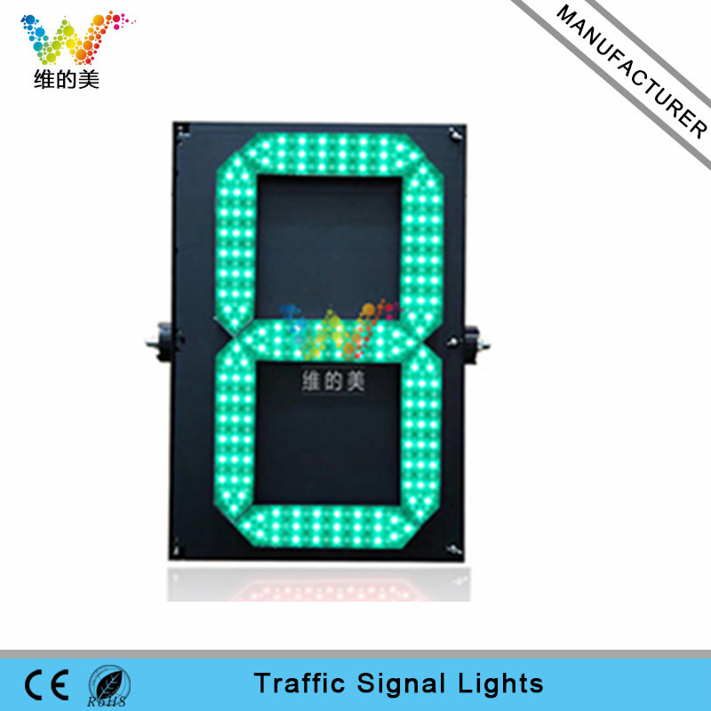 High quality 600*400mm one digital traffic countdown timer LED traffic light