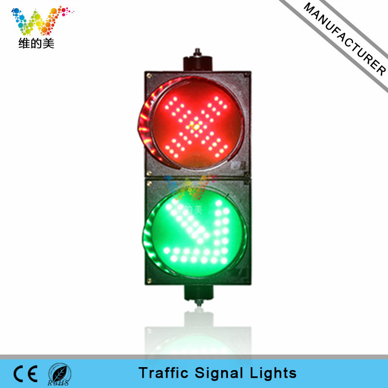 200mm red cross green arrow mini guide light LED traffic signal light for sale