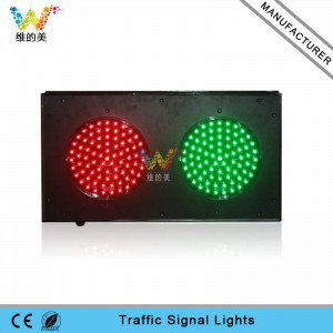 Customized aluminum 200mm parking lots mini traffic signal light