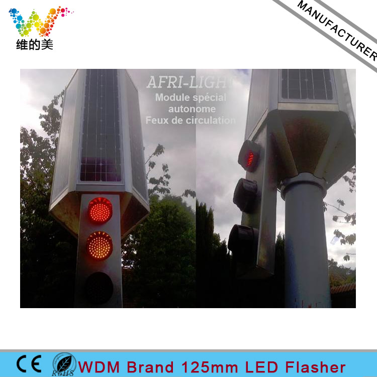 5 inch 125mm Red Yellow Green Traffic LED Road Junction Flasher