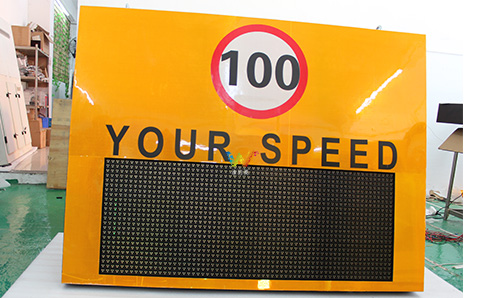 How to test the led radar speed screen?