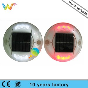 6 leds Round shape solar spike led road stud