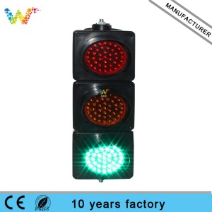 New trendy PC 100mm mini cobwebbery design mini LED traffic light