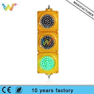 red amber green 100mm 12v dc led traffic light