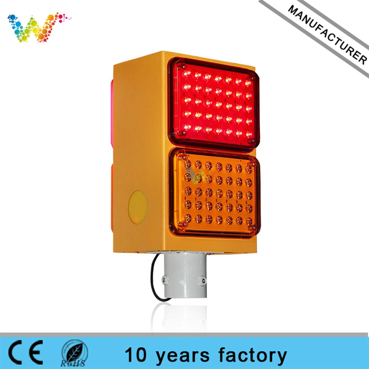 Factory Price Traffic Fog Light solar amber warning light