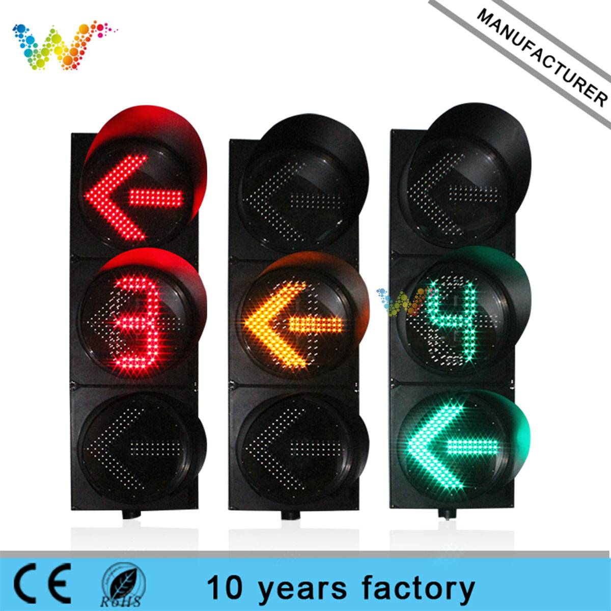400MM direction countdown timer led traffic lights