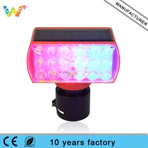 LED red blue traffic road construction signal light