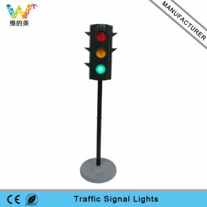 Portable pole design mini school teaching LED traffic light
