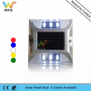 White color LED driveway traffic road marker led solar cat eyes road stud to Mexico
