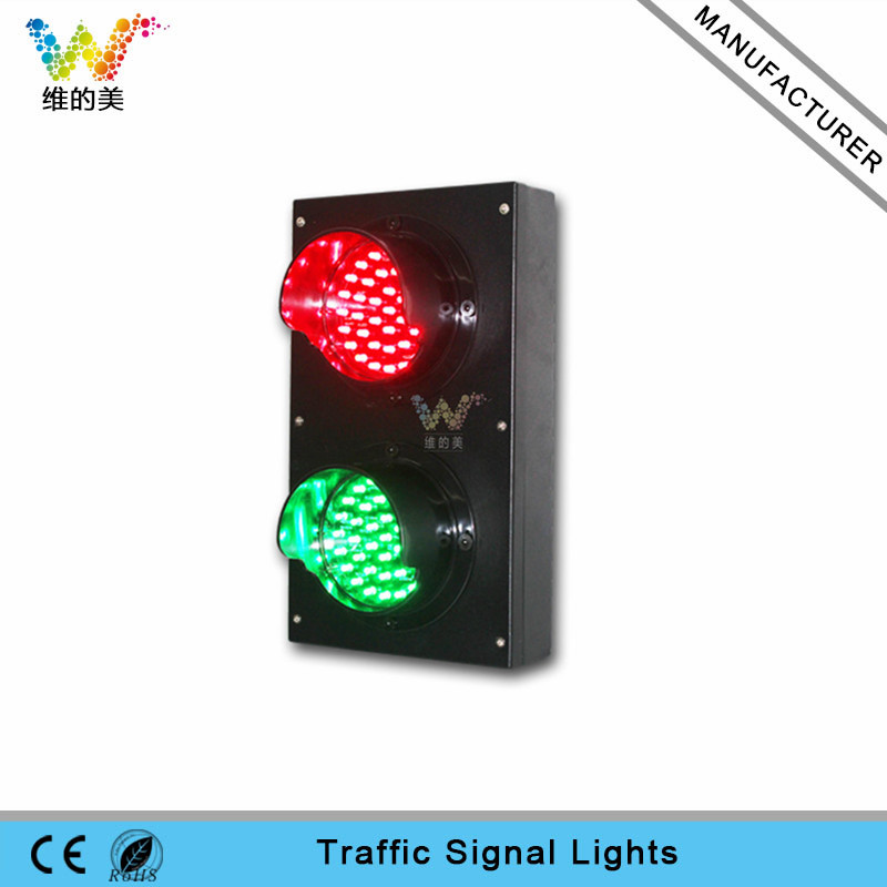 100mm red green LED light PC mini traffic signal light