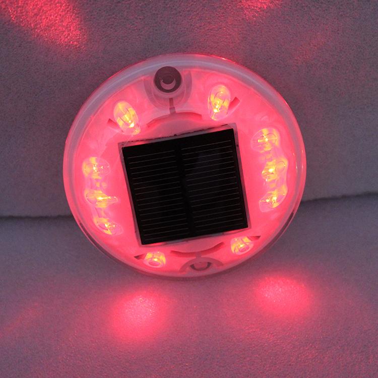 Round Shape Red Led Light Solar
