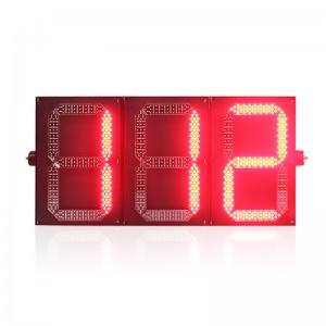 New design three digital PC housing red green LED traffic light countdown timer