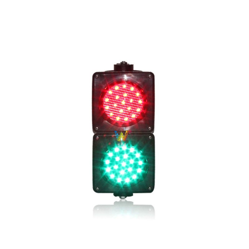 new design 100mm two aspects red green parking lots mini LED traffic signal light