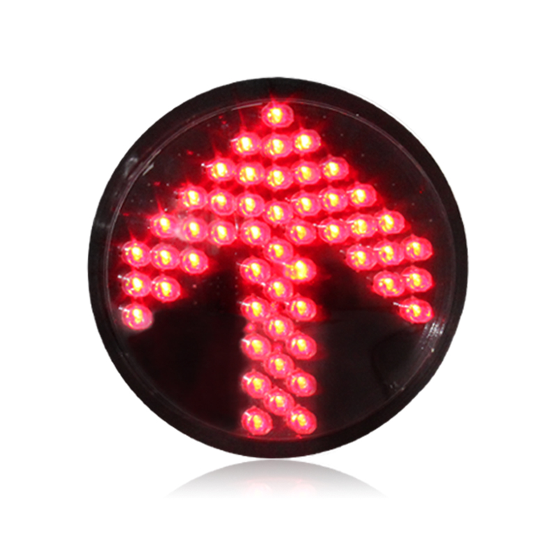 10 years factory customized 200mm 8 inch red arrow light module with Fresnel lens traffic light module