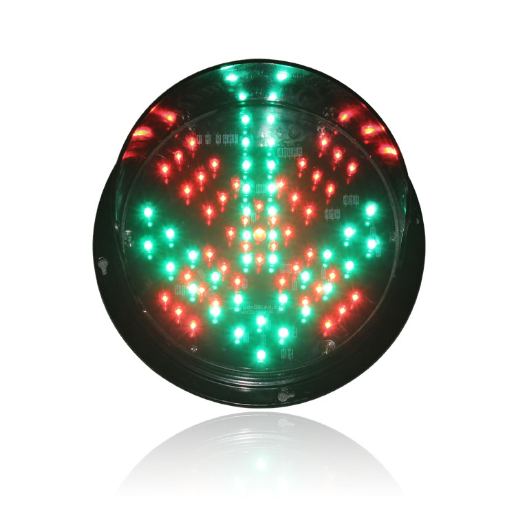 New design DC12V traffic signal light module 200mm red cross green arrow traffic light replacement in Dubai