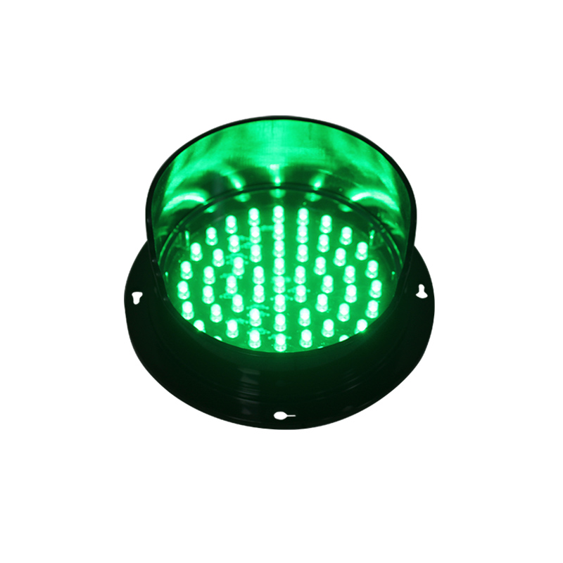 DC 12V yellow LED traffic lamp customized mould 125mm LED traffic signal light lampwick for sale in Africa