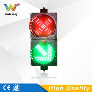 DC12V New design parking lots 200mm red cross 45 degree green arrow LED traffic light for sale in Amsterdam