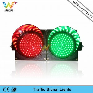 Hot selling 200mm red green traffic signal light PC shell waterproof traffic lights