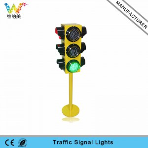 4 aspects 125mm portable mini teaching LED traffic signal light