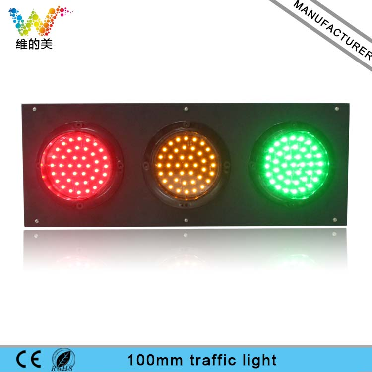 LED Manufacturer Customized 100mm Stainless Steel 3 Aspects Mini Traffic Signal Light