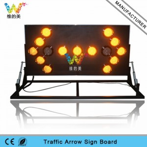 Shenzhen factory 180 degree folding aluminum LED arrow board light