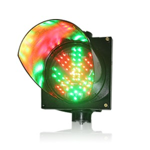 High brightness PC housing 200mm red cross green arrow LED traffic signal light