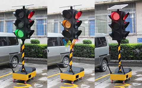 300mm solar portable traffic light