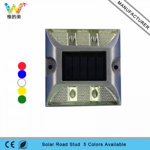 CE approved aluminum white flashing light solar road stud