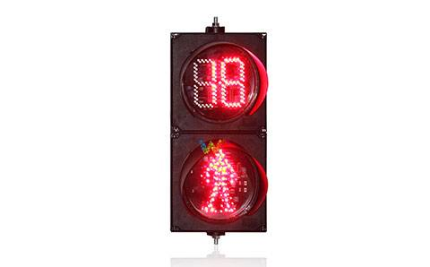 Can the 200MM countdown timer traffic signal light be able to display double eight?