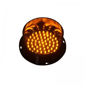 Mini 125 mm yellow LED traffic signal light module LED arrow board flasher