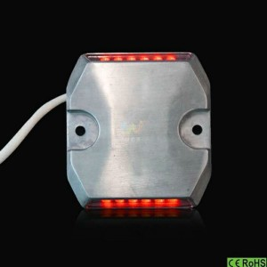 Traffic road safety IP68 red LED light wired road stud