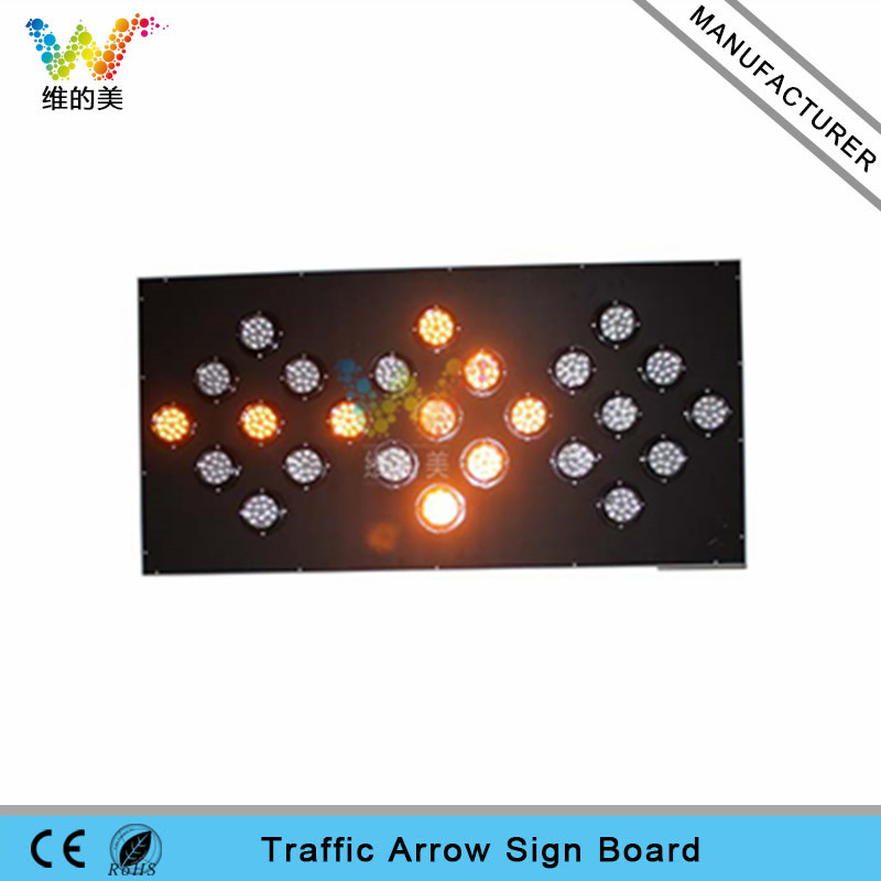 High Epistar yellow LED flashing light arrow sign board