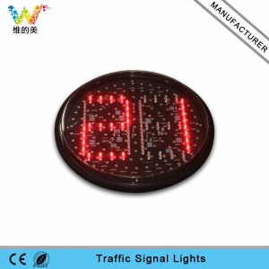 high brightness 300mm traffic signal light LED countdown timer