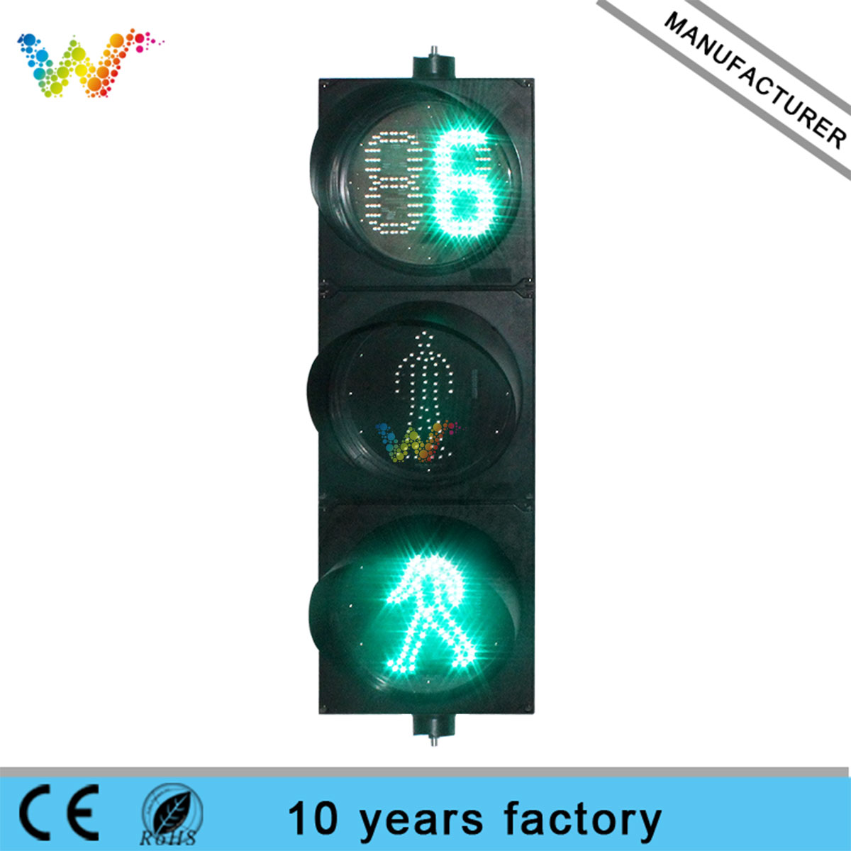 300mm pedestrian countdown timer traffic light