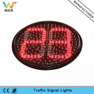 400mm traffic signal light lamp LED countdown timer
