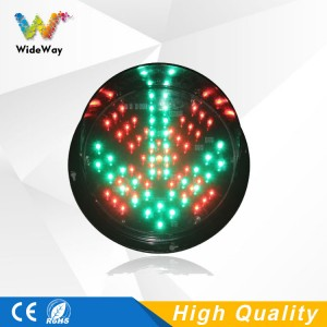 DC24V LED traffic signal light replacement parking lots 200mm red cross green arrow LED traffic light module