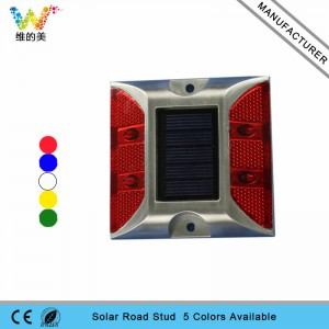 4pcs red LED light high quality reflector solar road stud