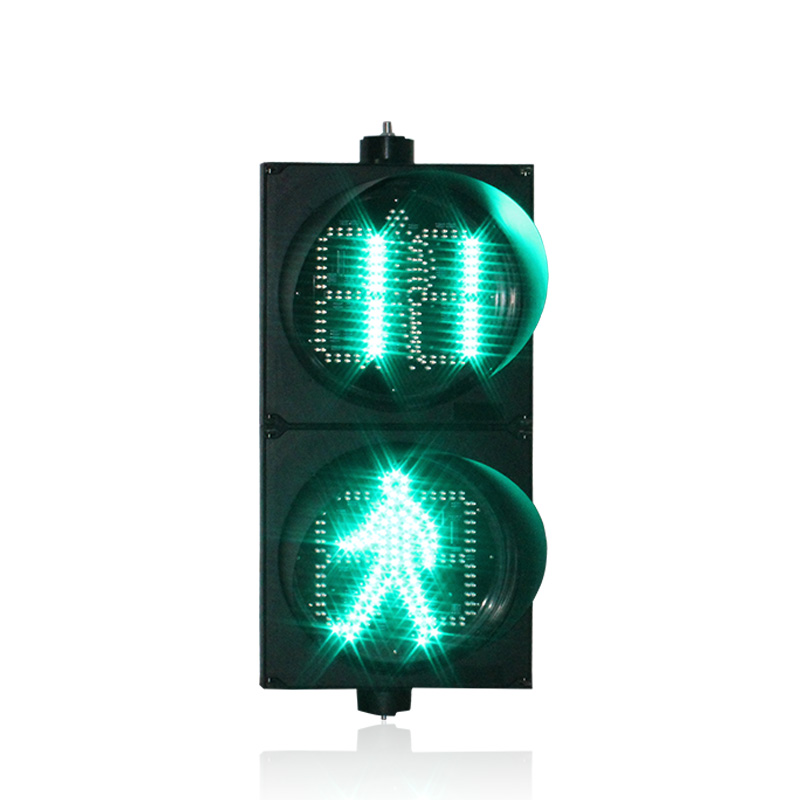 10 years factory road junction 300mm red green LED pedestrian signal  traffic light countdown timer