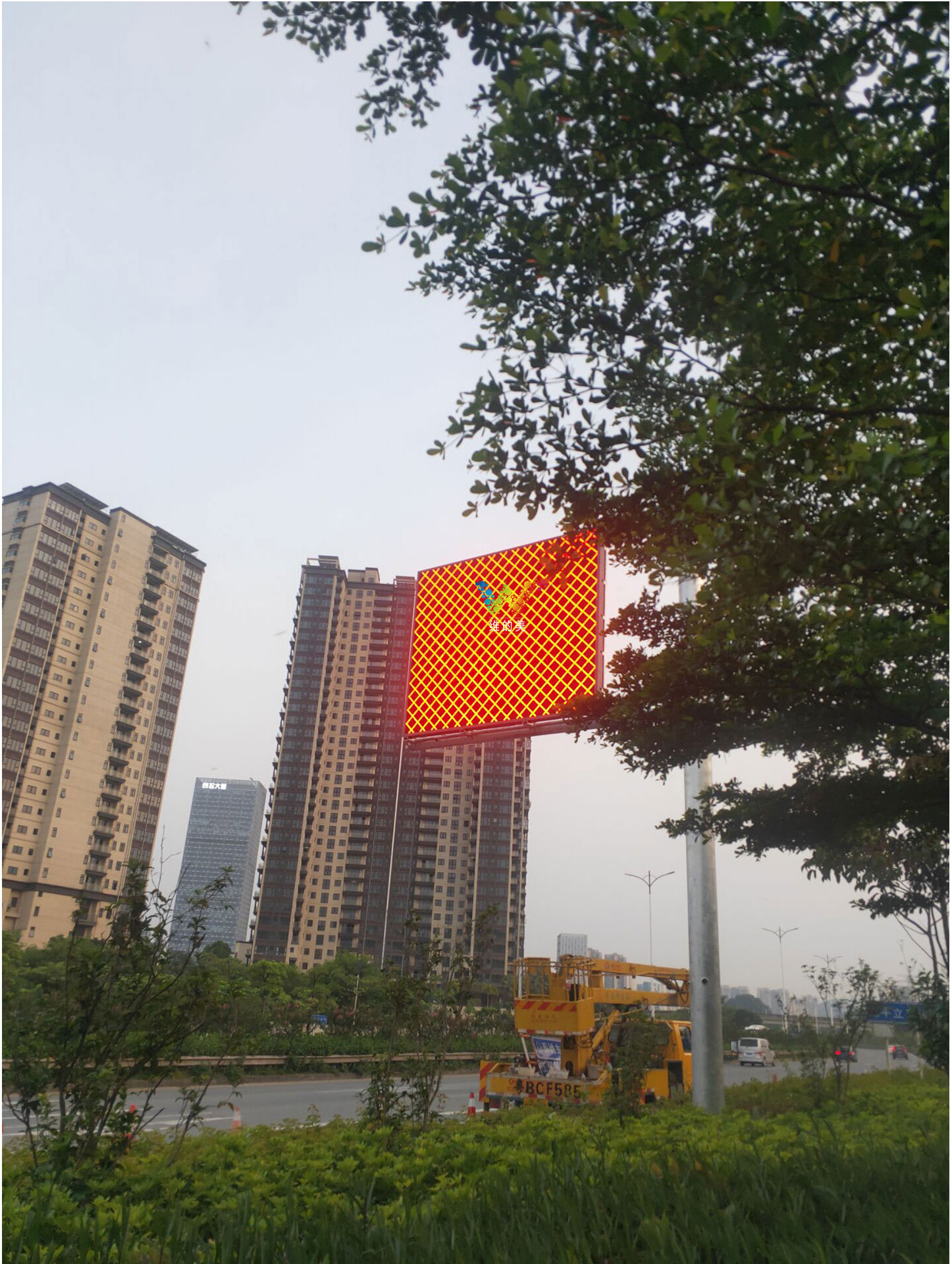 install the city induction led display  screen