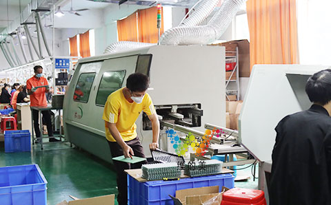 Mass production of P20 traffic guidance screen display module