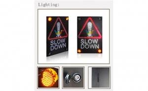 Electronic Sign Board Solar Slow Down Traffic Sign