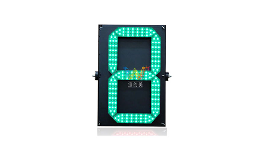 9-second red green countdown timer traffic light