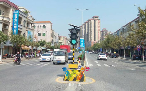 If the temporary traffic light has no electricity,what we can do?