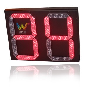 Red green light 2 digitals LED traffic countdown timer