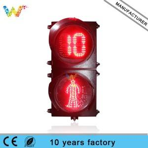 300mm Countdown timer Pedestrian Led Traffic Light